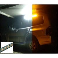 Twin Duo Yellow/White LED Strip Light 90cm Flex