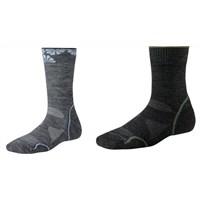Women's PHD Outdoor Light Crew Sock Sz L Grey/Blue