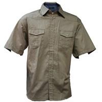 Men's Apollo Classic Plain Shirt L (Stone)