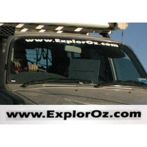 ExplorOz Merchandise Stickers, ExplorOz Windscreen Sticker