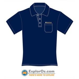 Unisex Navy Pocket Polo