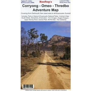Rooftop Maps Outback & Regional, Corryong-Omeo-Thredbo Adventure Map
