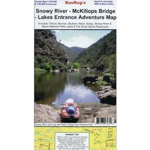 Rooftop Maps Outback & Regional, Snowy River-McKillops Bridge-Lakes Entrance Map