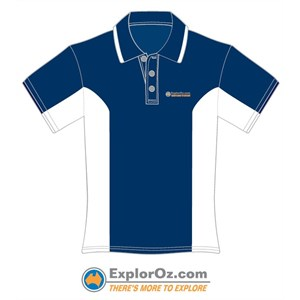 Unisex Navy/White Polo Shirt - TMTE