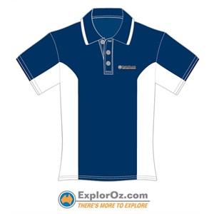Unisex Navy/White Polo Shirt - TMTE
