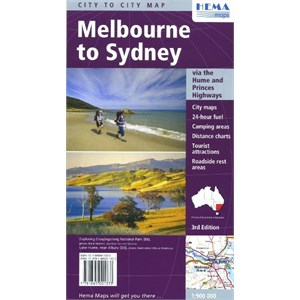 Hema Maps State & City, Melbourne to Sydney
