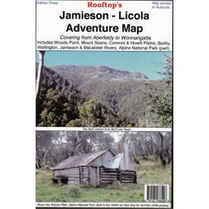 Rooftop Maps Outback & Regional, Jamieson - Licola Adventure Map