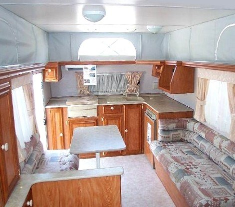 Caravan Interior Design And Balance Of Furnishings Living Space