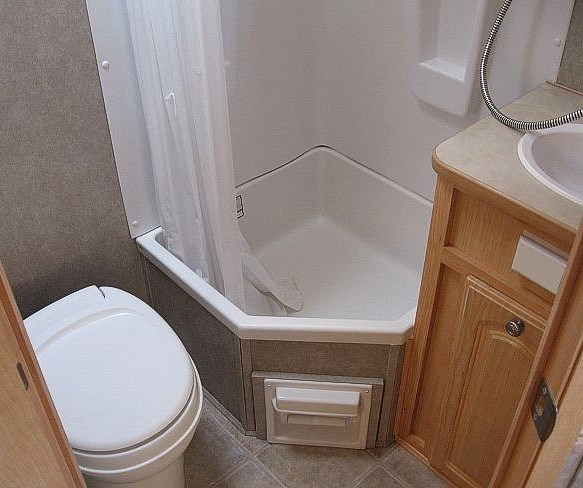 A Typical Bathroom In Caravan