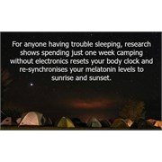 Go camping - it's good for you!