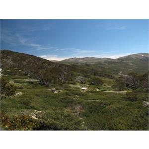 View westwards to main range Jan 09