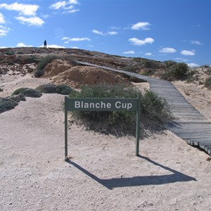 Blanche Cup - the largest mound spring.