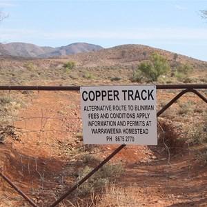 Copper track-locked gate