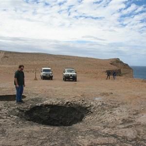 False Entrance Blowholes and Cliffs