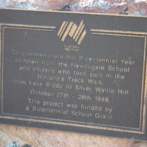 Commemorative Plaque (Bicentennial Walk - 1988)