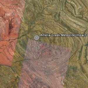 Amelia Creek Meteorite Impact Crater