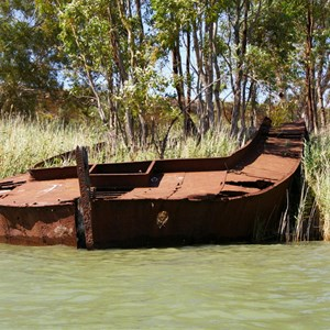 Sunken Barge and Steamer
