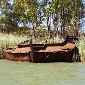 Sunken Barge and Steamer