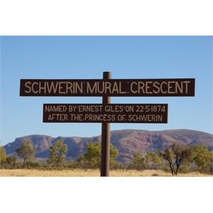 Schwerin Mural Crescent Sign