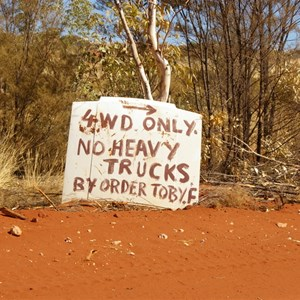 4WD Only Sign