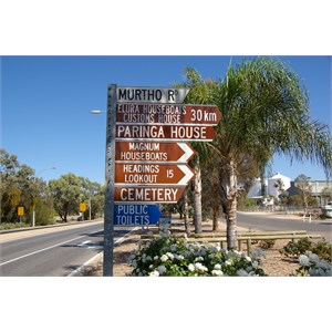 Paringa Township Turnoff