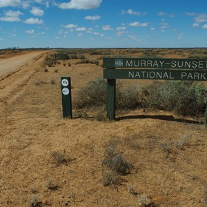 Murray-Sunset National Park Boundary Sign