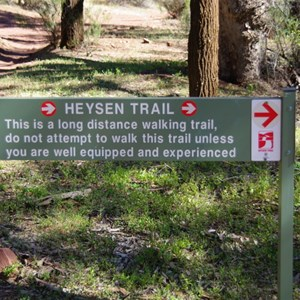 Heyson Trail Junction and Sign