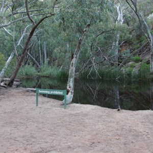 Wilpena Waterhole and No Swimming Sign