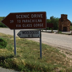 Glass Gorge Scenic Drive Sign