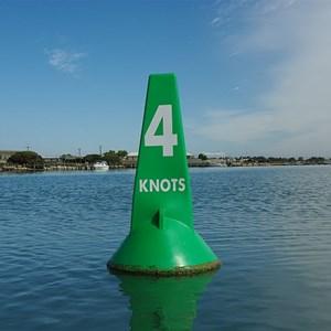 Green Marker 4 Knots Buoy