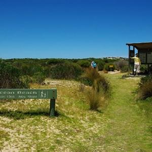 Ocean Beach Walking Sign