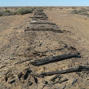 old Ghan track at Lake Eyre South