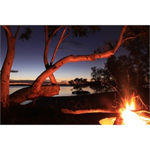 Camp fire at Dusk