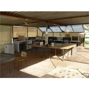 Excellent camp kitchen at Fort Courage