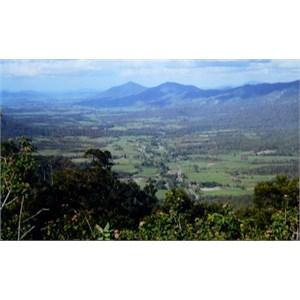 view from escarpment near Eungella