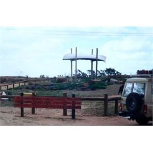 whaleboat memorial to Sturt