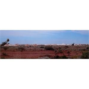 mullock hills at Coober pedy