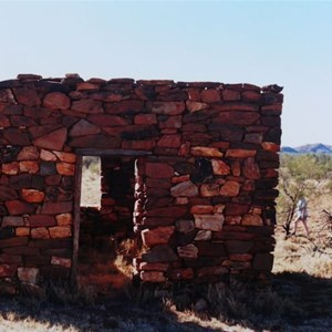 remains of old stone hut at Mt Doreen
