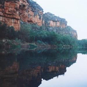 early morning reflections, Windjana Gorge