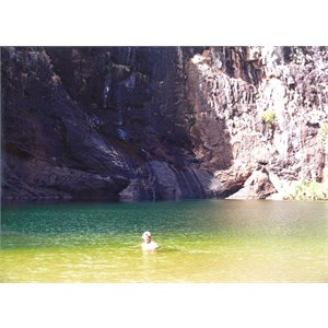 taking a dip at Gunlom