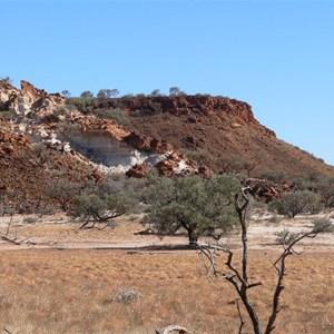 White ochre near Mt Tietkins