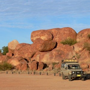 Empty carpark, Devil's Marbles