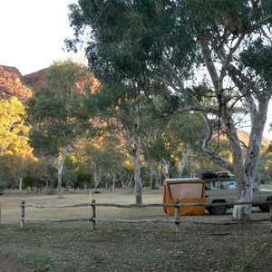 Ross River Campground, plenty of space