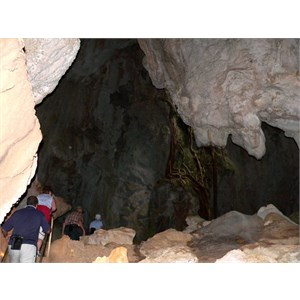 A cool cave with a collapsed roof