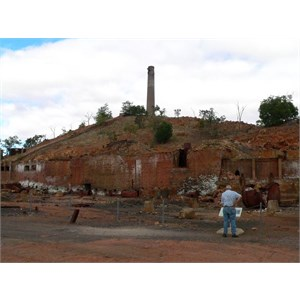 Remains of the old Chillagoe smelter