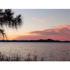 Evening glow over the Myall Lakes