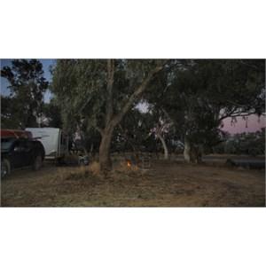 camping near Quilpie at Lake Houdraman