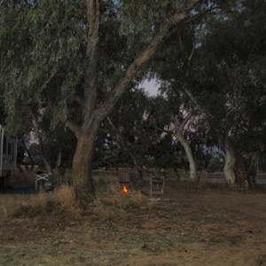 camping near Quilpie at Lake Houdraman