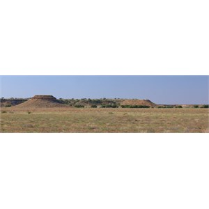 Eroded ridges near the homestead