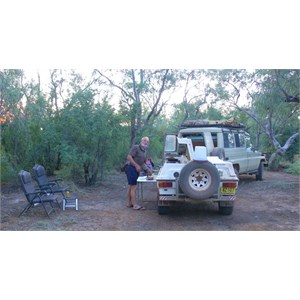 Shady camp at Gum Tree Waterhole